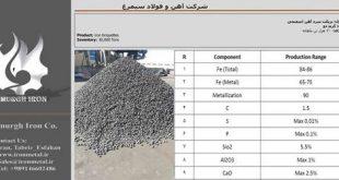 فروش بریکت سرد آهن اسفنجی نائین اصفهان