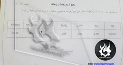 فروش لجن آهن اسفنجی تناژ 20000 تن