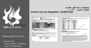 فروش سنگ اهن برای صادرات – در بندرعباس